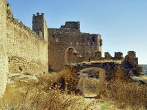 Kasteel van Montalban, Toledo, Spanje stock afbeelding