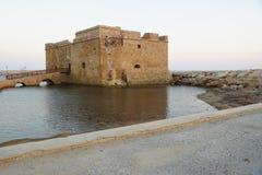 Kasteel van Paphos Royalty-vrije Stock Foto's