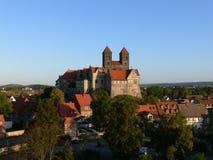 Kasteel van Quedlinburg in Saksen-Anhalt, Duitsland Stock Afbeelding
