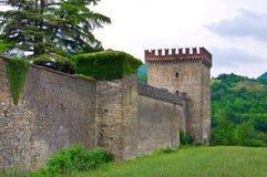 Kasteel van Riva Pontedell'olio Emilia-Romagna Italië Stock Fotografie