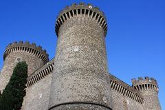 Kasteel van Rocca Pia in Tivoli (Rome, Italië) Stock Fotografie