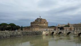 Kasteel van Sant Angelo in Rome stock videobeelden