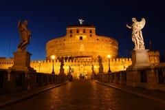 Kasteel van Sant Angelo, Rome stock foto's