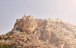 Kasteel van Santa Barbara in Alicante stock foto's