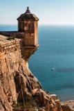 Kasteel van Santa Barbara in de stad van Alicante spanje royalty-vrije stock fotografie