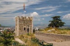 Kasteel van Skopje, hoofdstad van Macedonië stock fotografie