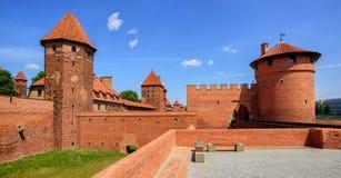 Kasteel van Teutonic Riddersorde in Malbork, Polen Stock Foto's
