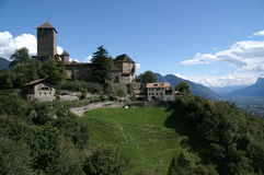 Kasteel van Tirol royalty-vrije stock afbeelding