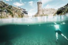 Kasteel van Tossa van het water, Costa Brava Royalty-vrije Stock Fotografie