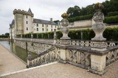 Kasteel van Villandry, bij de Vallei van de Loire Stock Foto's