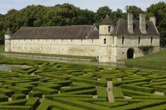 Kasteel van Villarceaux royalty-vrije stock foto