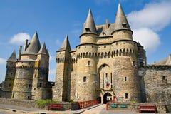 Kasteel van Vitré, Bretagne, Frankrijk Stock Foto's