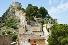 Kasteel van Xativa - Spanje Royalty-vrije Stock Fotografie