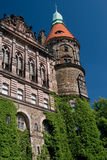 Kasteel - westelijke voorzijde royalty-vrije stock afbeeldingen