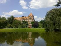 Kasteel in Wroclaw royalty-vrije stock afbeelding