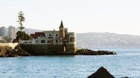 Kasteel wulff op de rots in Viña del Mar royalty-vrije stock afbeeldingen