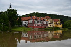 Kasteel Zbraslav Stock Afbeeldingen