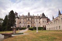 Kasteel Zleby, Tsjechische Republiek royalty-vrije stock foto's