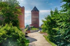 Kasteelaantrekkelijkheid in de reis van Letland Stock Foto