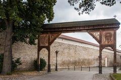 Kasteelbinnenland en in openlucht in Polen Stock Afbeeldingen