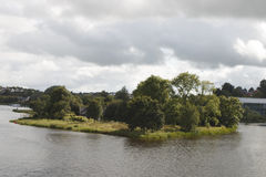 Kasteeleiland, Enniskillen-Co Fermanagh, Noord-Ierland Stock Afbeelding