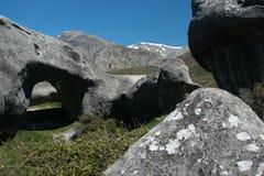 Kasteelheuvel, Canterbury, Nieuw Zeeland stock afbeelding