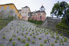 Kasteelheuvel Jansky royalty-vrije stock foto