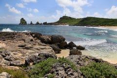 Kasteelpunt in Guadeloupe Stock Afbeeldingen
