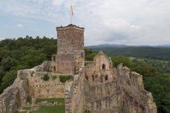 Kasteelruïnes Roetteln in Loerrach, Duitsland stock foto