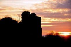 Kasteelruïnes in Transsylvanië royalty-vrije stock fotografie