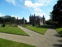 Kastel de Haar, Utrecht, Nederländerna Arkivbild