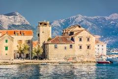 Kastel Stari镇在克罗地亚 免版税库存图片