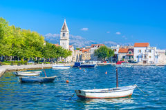 Kastel Sucurac - touristic ställe i Kroatien arkivfoto