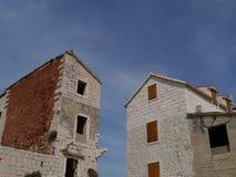 Kastela的里维埃拉议院在克罗地亚 免版税库存照片