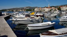 Kastela harbour stock video