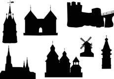 Kastelen en torens Royalty-vrije Stock Fotografie