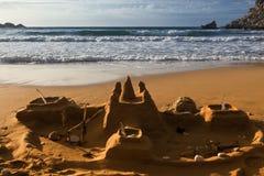 Kastelen in het Zand stock afbeelding