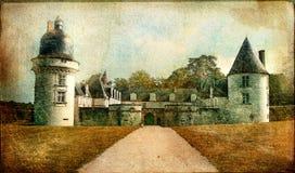 Kastelen van de vallei van de Loire stock illustratie