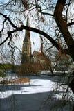 Kastelet的教会在哥本哈根 库存图片