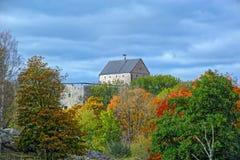 Kastelholm城堡& x28; 修造在14世纪& x29; Aland海岛 免版税库存图片