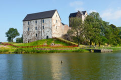 Kastelholm kasztel (budujący w czternastym wieku) Zdjęcie Royalty Free