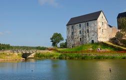 Kastelholm kasztel (budujący w czternastym wieku) Fotografia Stock