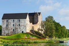 Kastelholm-Schloss (errichtet im 14. Jahrhundert) Stockfotografie