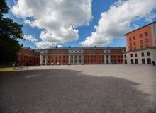 Kastell di Vaxholms della facciata, Stoccolma sweden Fotografie Stock Libere da Diritti