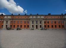 Kastell Vaxholms фасада, Стокгольм Швеция Стоковые Фото