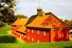 Kastellet red house - Copenhagen Stock Image