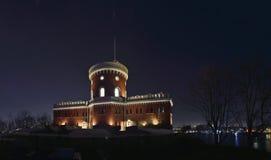 Kastellholmen的城堡每繁星之夜 库存图片