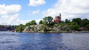 Kastellholmen island in Stockholm in Sweden Royalty Free Stock Image