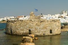 Kastelli castle of Paros island in Greece. Royalty Free Stock Image