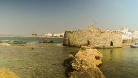 Kastelli castle of Paros island in Greece. An old Venetian fortress at Naoussa village. stock video